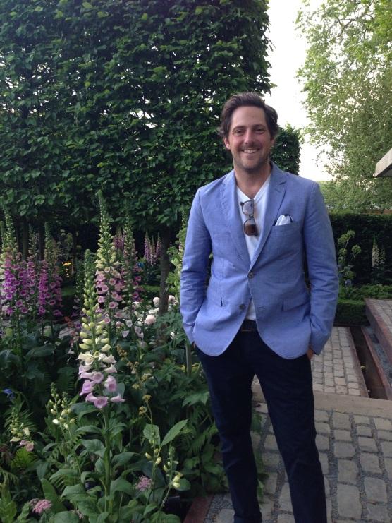 the gardener: Mr Charlie Albone